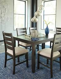rokane casual 7 pc dining table set with six chairs marjen of