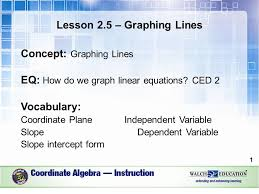 lesson 2 5 u2013 graphing lines concept graphing lines eq how do we