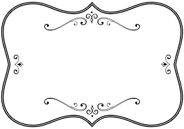 halloween frame png clipart decorative black and white flourish frame