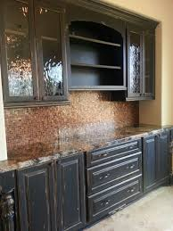 Rustic Painted Kitchen Cabinets by Best 25 Distressed Cabinets Ideas On Pinterest Metal Accents