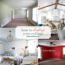 how to shiplap your ceilings the handmade home