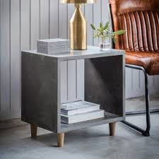 Concrete Side Table Cube Side Table Concrete Modern L Sofa Tables