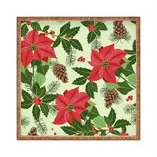 shop deny designs poinsettia serving tray at lowes com