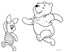 winnie the pooh and birthday cake coloring page free u0026 printable