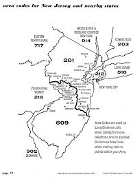 jersey area code map here are the central and south jersey borders as determined