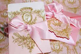 pink and gold wedding invitations wedding invitations antoinette pink and gold cameo