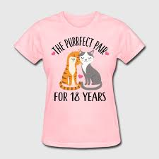 18th anniversary gift 18th anniversary gift couples 18 years t shirt spreadshirt