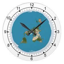 flat earth large wall clock zazzle com