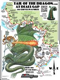 Map Of Eastern Tennessee by Tail Of The Dragon Maps Motorcycle And Sportcar Touring Maps For