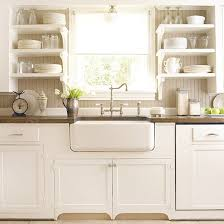 Vintage And Simple Open Kitchen Shelving - Kitchen sink shelves