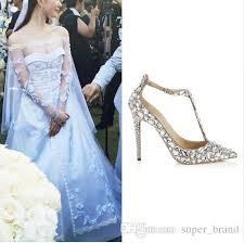 wedding shoes jeweled heels luxury diamond wedding shoe jeweled heel gladiator sandals women