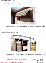 Awning Supply Pirie Kindred Supply Pks Mobile Home Parts Gutters Downspouts