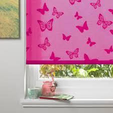 pink window treatment diy