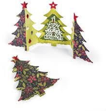 sizzix thinlits dies christmas tree fold a long card 660665