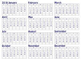 printable annual planner 2018 year planner excel word pdf january 2018 calendar