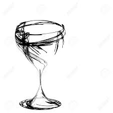Beautiful Wine Glasses The Beautiful Stylized Wine Glass For Fault Stock Photo Picture