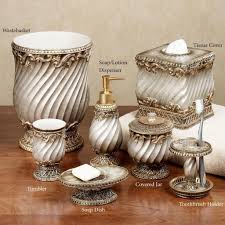 bathroom luxurious glitz gold bathroom accessories set with