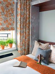 Orange And White Bedroom Guest Beds For Small Spaces Homesfeed