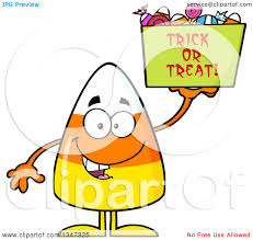 cartoon halloween picture clipart of a cartoon halloween candy corn character holding up a