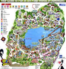 6 Flags Water Park Park Maps