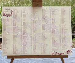 Wedding Seating Signs Wedding Chart First Snowfall Handwritten Seating Chart 51 Best