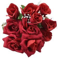 bulk roses bulk 5 stem floral garden velvety roses 14 in at dollartree