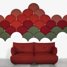 Decorative Acoustic Panels Ginkgo Decorative Acoustic Tiles From Blå Station Acoustics With