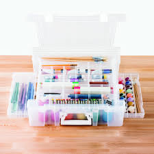 Artbin Store In Drawer Cabinet Artbin Deluxe Super Satchel The Container Store