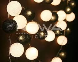 Decorative Indoor String Lights 20 Beige Cotton Ball Fairy Lights Indoor String Lights Warm