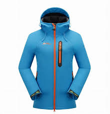 Brand Women Outdoor Sports Ski Composite Pile Soft Shell Jackets