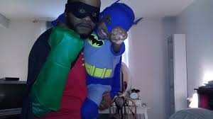 my son and i as batman and robin pics