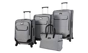 Nicole Miller Bathroom Accessories by Nicole Miller Spinner Luggage Set 4 Piece Groupon