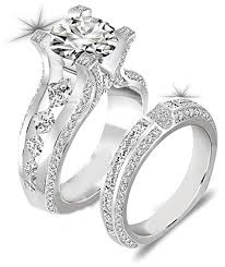 925 sterling silver engagement rings newshe jewellery 3ct cz 925 sterling silver wedding band