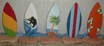 handmade 1ft tall surf surfboard party table centerpiece decor by