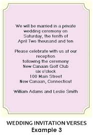 wedding wording sles wording for wedding reception invitations