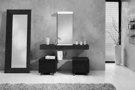 white wall paitn real wood vanity with storage drawers granite