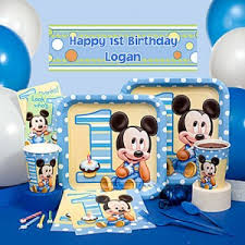 mickey mouse 1st birthday mickey mouse 1st birthday party themeaparty