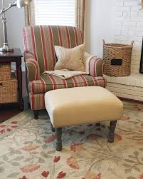How To Make An Upholstered Ottoman by The Modest Homestead How To Make An Upholstered Ottoman