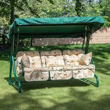 3 Seater Garden Swing Chair Cushions Garden Treasures 3 Seat Steel Casual Cushion Swing