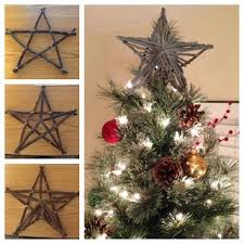make your own rustic tree topper i just need to find some