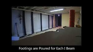 i beam installation time lapse baltimore towson basement