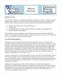 mission statement template 9 free word pdf document downloads