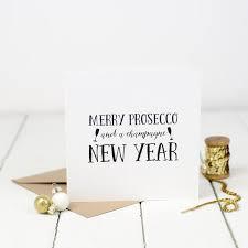 prosecco christmas card bespoke verse
