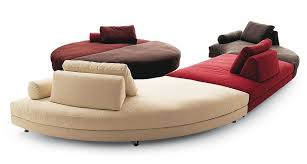 canapé circulaire canapé semi circulaire tapissé de peau ou de tissu fly bosal