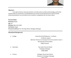 Proper Format For Resume 93 Marvellous Proper Resume Format Examples Of Resumes Examples