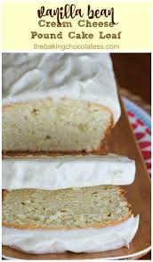 vanilla bean cream cheese pound cake loaf vanilla bean frosting