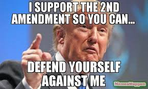 2nd Amendment Meme - i support the 2nd amendment so you can defend yourself against