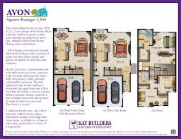 avon townhome the fields at blue barn meadows floor plans