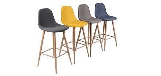 chaise de bar extraordinaire chaise de bar scandinave 2 beraue blanc design agmc dz
