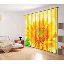 Sunflower Yellow Curtains Sunflower 3d Blackout Curtains